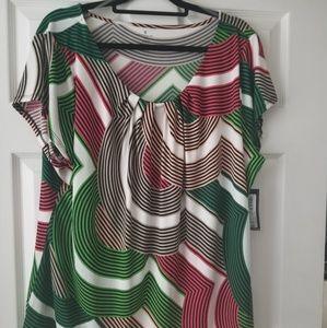 Worthington Woman Multi-Colored Shirt